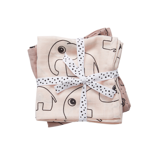 Done by Deer Contour Burp Cloth Harsot Puuteri (2-pack)